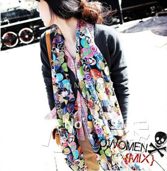 Wholesale 2013 summer female silk scarf shawl,women long fashion scarf,lady's scarf(China (Mainland))