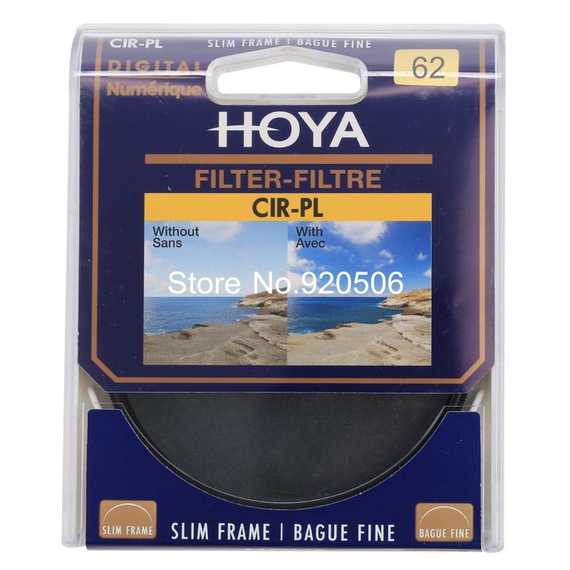 Hoya 62mm Slim CPL Circular Polarizing / Polarizer CIR-PL Lens Filter For Pentax Canon Nikon Sony Olympus Leica Camera Lens(China (Mainland))