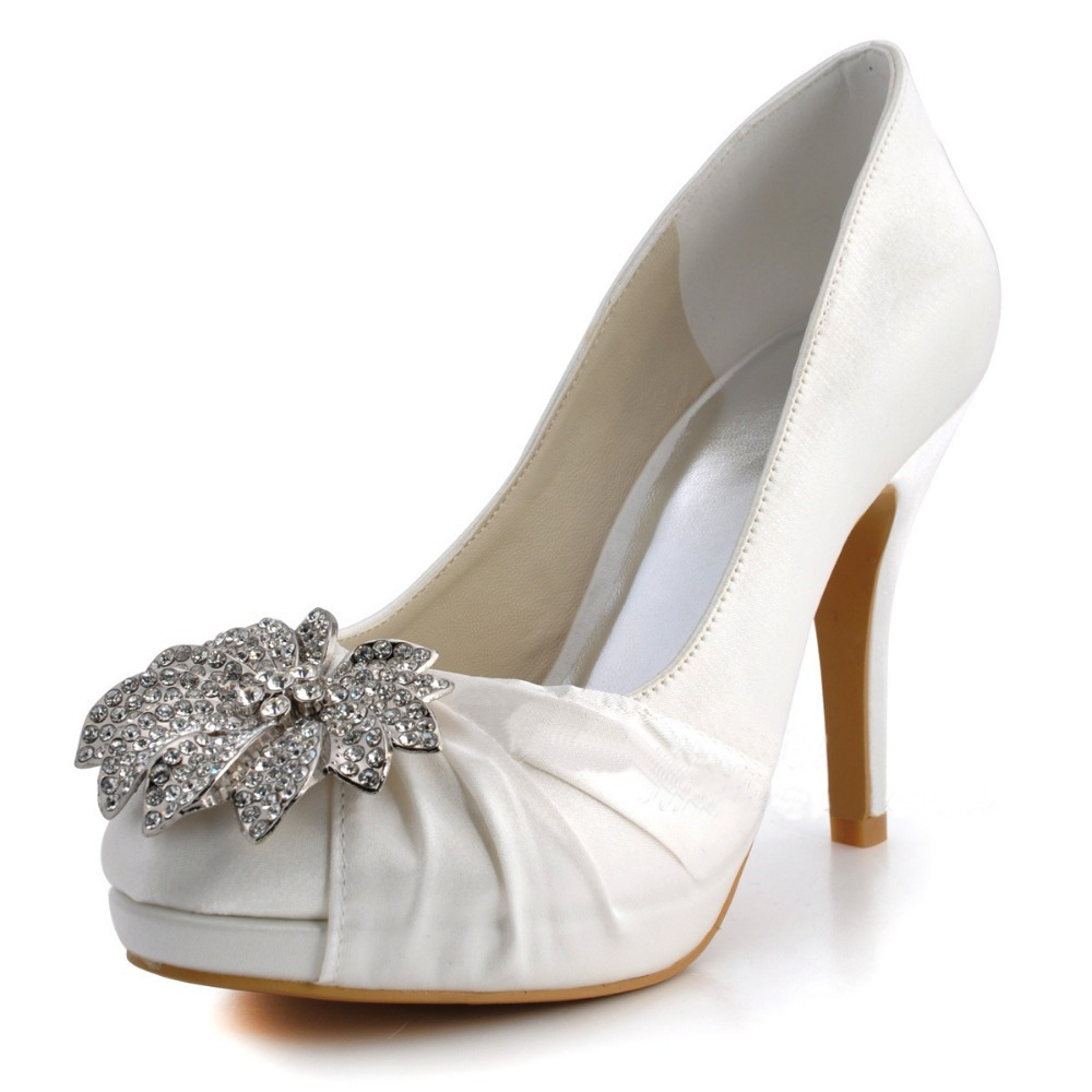 rhinestone high heels platform bridal pumps big sizes