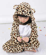 Leopard bear Jumpsuit For Children Kids Onesie Pajamas Cosplay Costume Clothing For Halloween Carnival