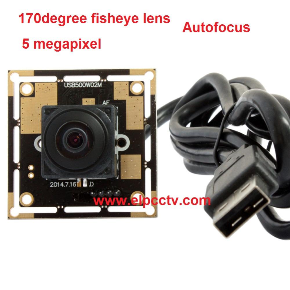 5.0 Megapixel CMOS OV5640 sensor Autofocus 170degree fisheye lens wide angle cmos board camera for machinery equipment (China (Mainland))