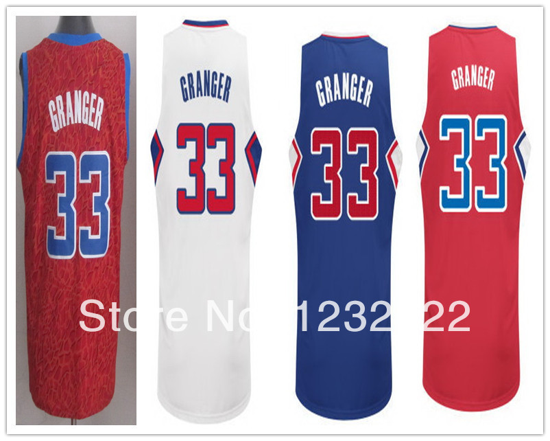 Customize Los Angeles #33 Danny Granger Jersey Red Blue White PRO New Home Road Danny Granger LA Jersey Stitched Quality Shop(China (Mainland))