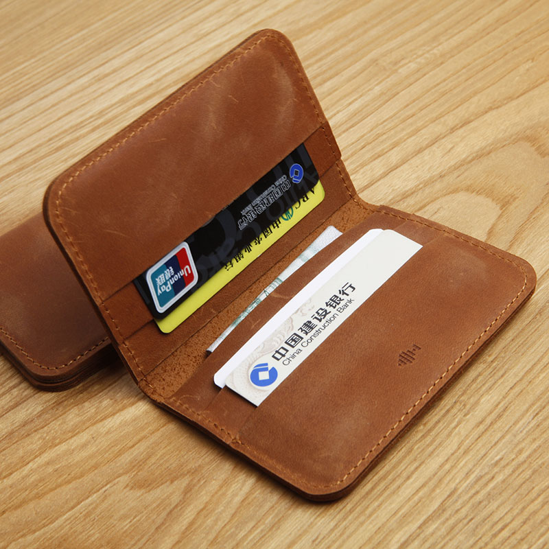 LAN men's genuine leather bank card holder credit card case slim card case leather coin purse(China (Mainland))
