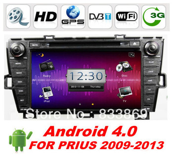 """8 """"Double Din Android 4.0 Car DVD For TOYOTA PRIUS with GPS navigation 3G/WIFI Car PC Radio BT TV PIP 3D + Free WIFI dongle"""