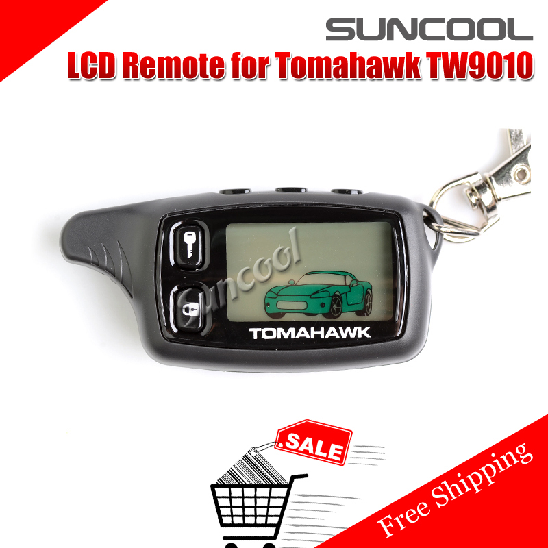 SUNCOOL New 2014 LCD Remote For Tomahawk TW9010 Tomahawk 9010 Two way car alarm system Russian Tomahawk TW 9010 keychain(China (Mainland))