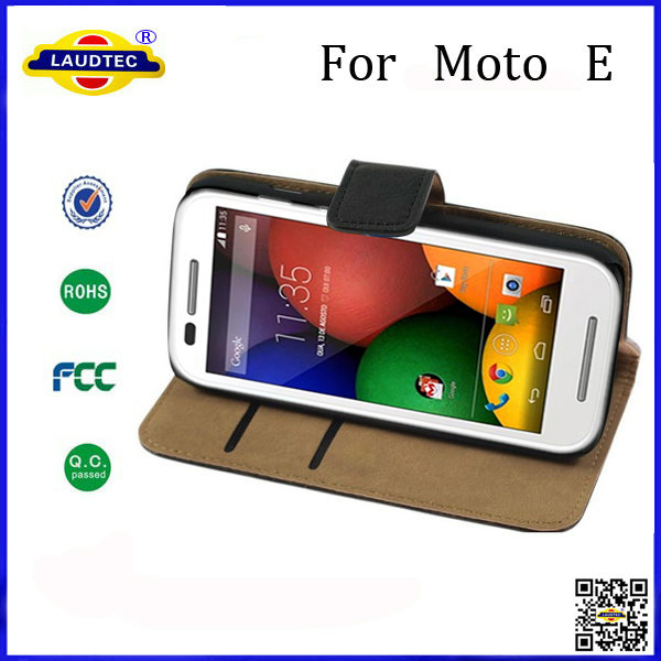 Premium Leather Case For MOTO E Wallet Case China Manufacturer(China (Mainland))