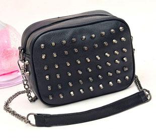 Hot selling 2016 fashion candy color punk rivert women handbag neon chain shoulder bag messenger bag HD239(China (Mainland))