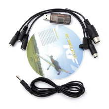 22 in 1 RC USB Flight Simulator Cable for Realflight G7/ G6 G5.5 G5 5.0 for FPV Training Newest Version(China (Mainland))