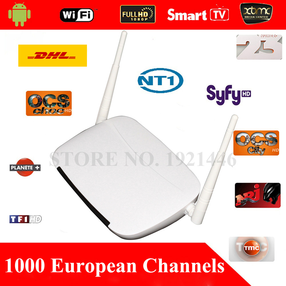 European & Arabic IPTV Android TV Box 1000+Channels Sky IT DE UK Turkish Serbia French Greece Sweden Albanian Set Top Box By DHL(China (Mainland))