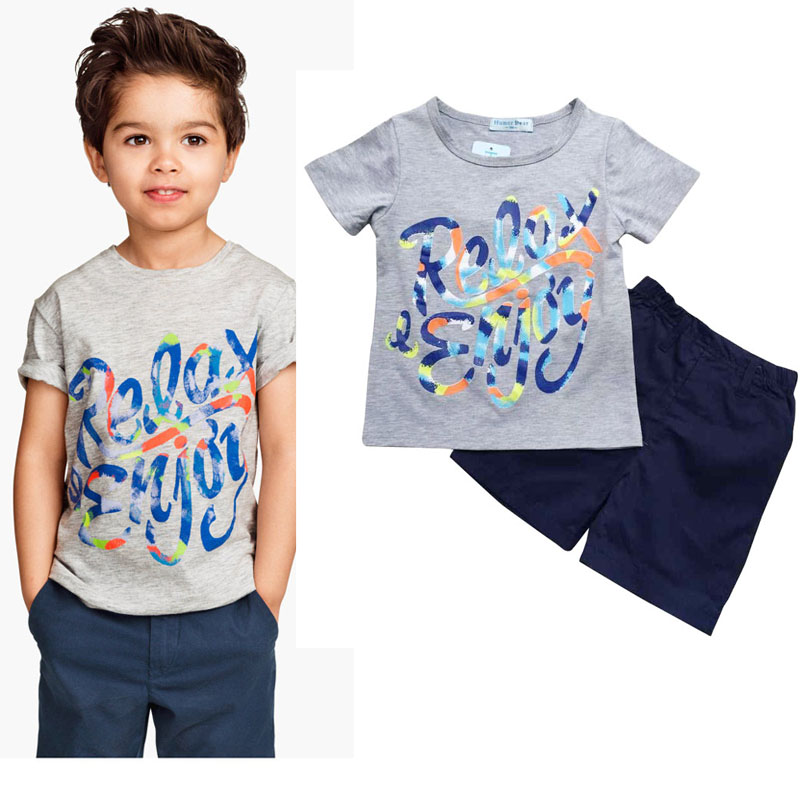 new baby boy in the summer of 2015 set children clothing