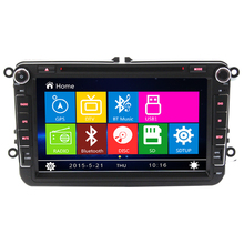 2 Din Auto 8″screen Built-in canbus Car DVD Player GPS Navigation for VW JETTA PASSAT B6 CC GOLF 5 6 POLO Touran Skoda Seat