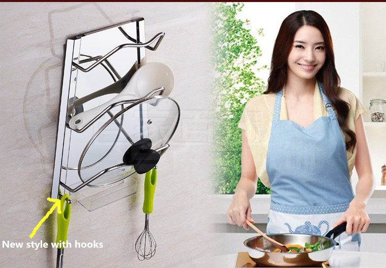 Pot Pan Cover Shell Stainless Steel Kitchen Pot Cover Rack SUS304 Stainless Steel Pot Rack Kitchen Storage Rack(China (Mainland))