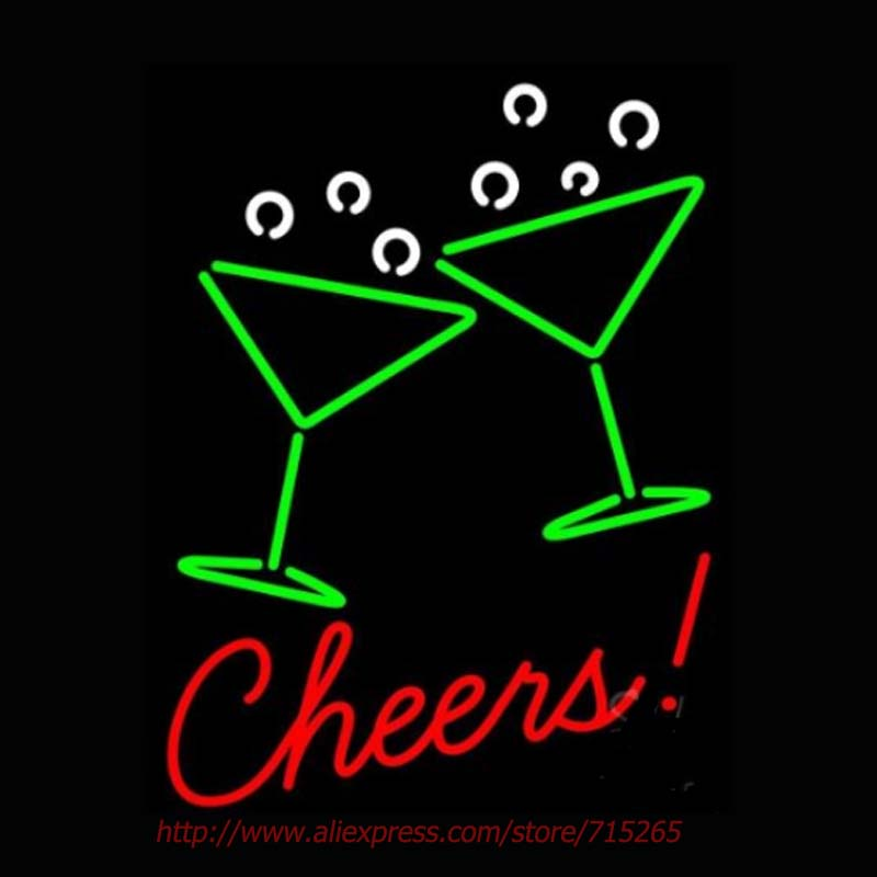 Cheers With Wine Neon Sign Neon Bulbs Led Signs Real Glass Tube Handcrafted Room Restaurant Hotel Decorative Display Impact24x18(China (Mainland))