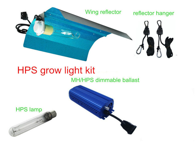 HPS 1000W grow light kits with wing reflector