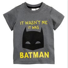 2016 Children T Shirt Batman Cotton Short Sleeve T-Shirts For Boys Cartoon Print Boys Tee Fashion Kids Tshirt Tops Boys Clothing