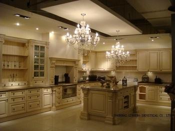 Modular solid wood kitchen cabinets( LH-SW003)