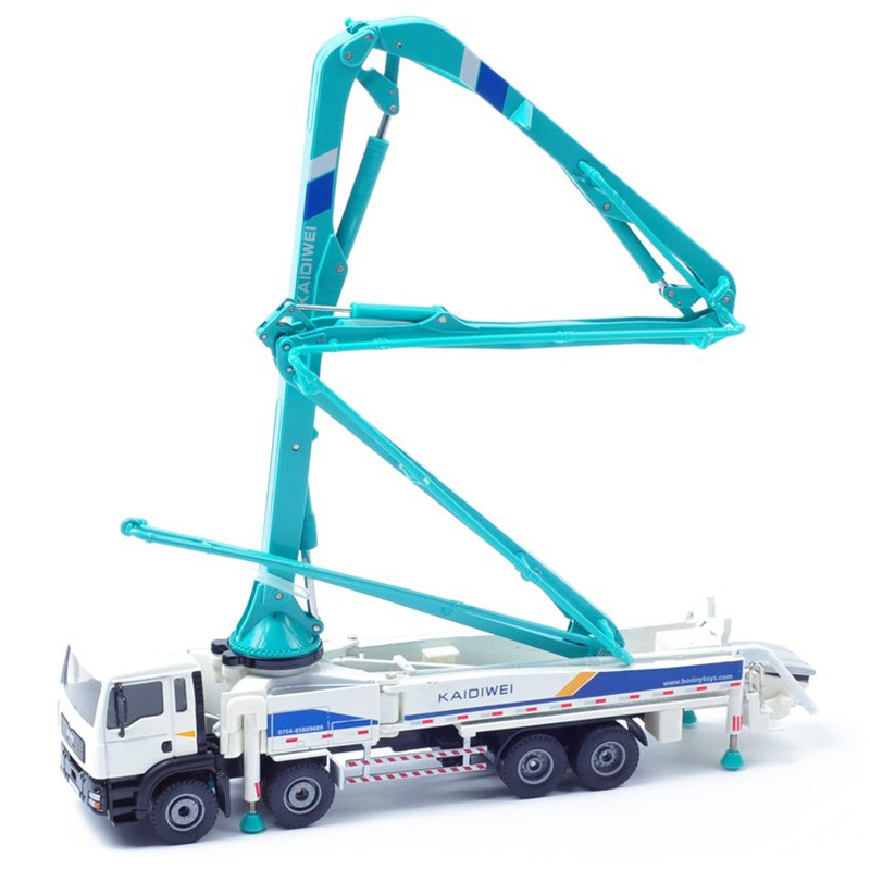 1:55 Scale Diecast Metal + ABS CONCRETE PUMP Model Car New Engineering Truck Kids Toys(China (Mainland))