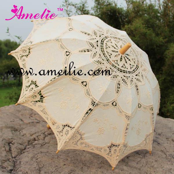 10 Pcs/Lot Free shipping Fashion Lace Sun Wedding Umbrella Bridal Parasols(China (Mainland))