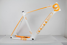 Buy promotion carbon mountain bike frame,mtb carbon frame 26er bicycle frame 21'' BSA white/yellow painting for $249.00 in AliExpress store