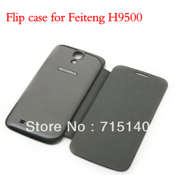 Flip Case For 5 inch China Phones FeiTeng GT H9500 High Quality Black And White Color