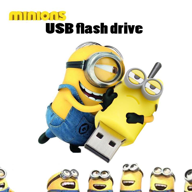 pen drive minion USB flash drive 100% real capacity 3 model pendrive cartoon usb stick 16g/8g/4g flash memory stick flash card(China (Mainland))