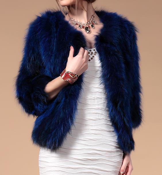 Womens Winter Fur Coat Fashion Raccoon Fur Jacket O-neck Short Real Fur Coat Outerwear LQ26004Одежда и ак�е��уары<br><br><br>Aliexpress