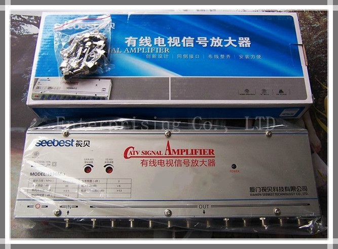 , SB-1030M12,12 way CATV signal amplifier, Sat Cable TV Signal Amplifier Splitter Booster CATV, 30DB - Enterprising Co., LTD store