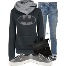 New Batman Tumblr Sweatshirts Women's Fashion Scarf Neck Pocket Tops Hoodies Tees Kpop Sweatshirts Pullover Tracksui Harajuku(China (Mainland))