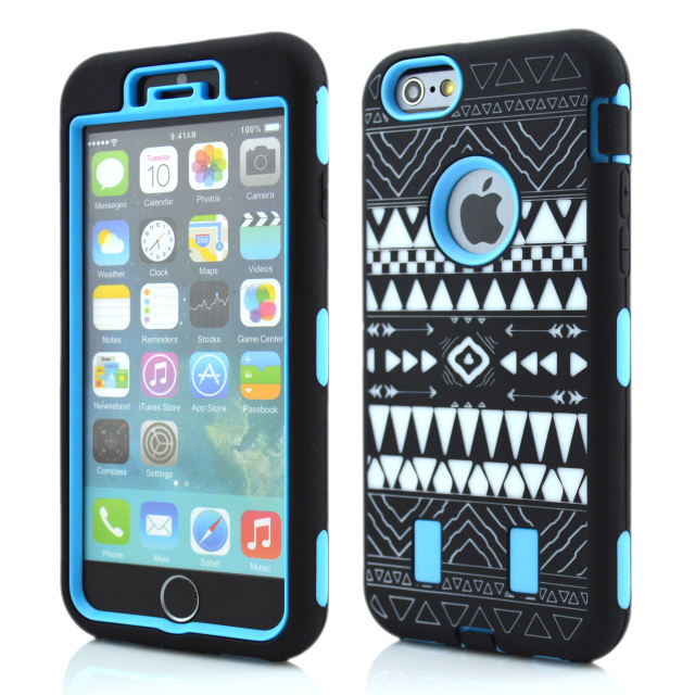 Tribal totem pattern of Armor cell phone case For iPhone 6/6 plus fit 4.7/5.5 inch.water/dirt/shock proof(China (Mainland))