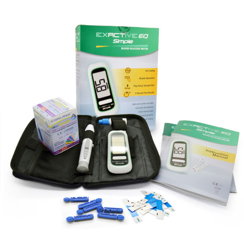Blood Glucose Meter Monitor glycuresis Monitor for Glucometer medidor de glicose with 10 Diabetic test strips+10 Needles&Lancets(China (Mainland))