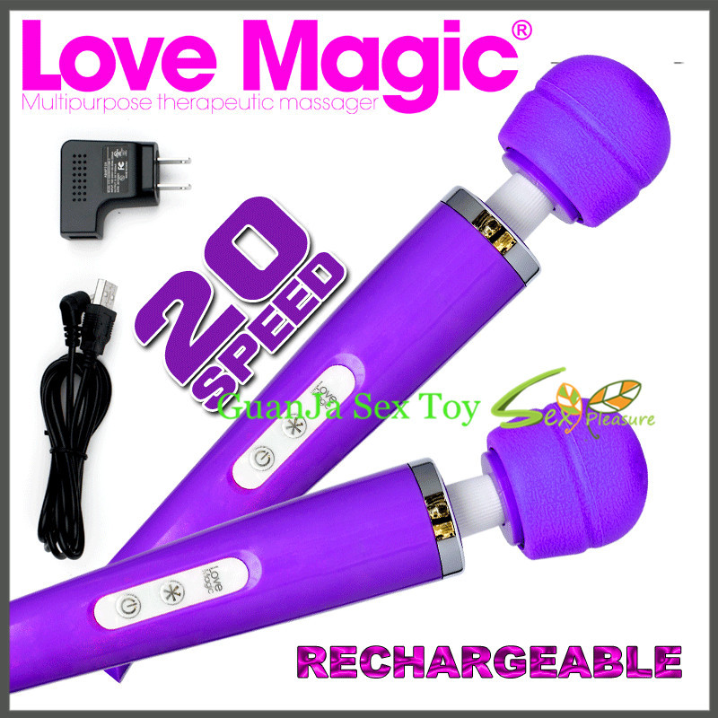 rechargeable 20 speed big recharge magic wand massager AV vibrtaor clitoris vibrator sex toy sex products