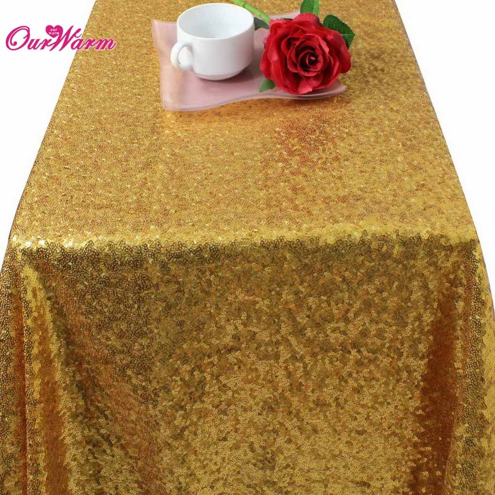 """40''x59"""" Gold Silver Sparkly Sequin Rectangle Table Cover Tablecloth For Wedding Party Event Table Decoration Supply(China (Mainland))"""