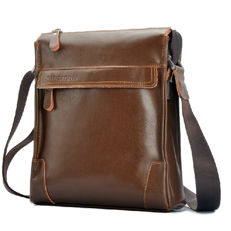 100% Guarantee Genuine Leather Bag for men Fashion Casual men messenger bags Brand High quality shoulder corssbody bags <br><br>Aliexpress