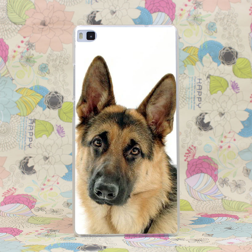 106HJ Berger Allemand Chien Puppy German Shepherd Head Hard Case Cover for Huawei P6 P7 P8 P9 Lite Plus Honor 6 7 4C 4X G7(China (Mainland))