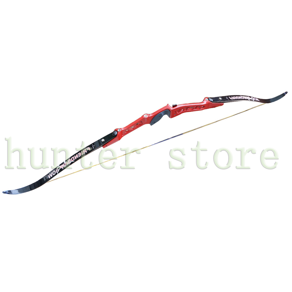 Archery take down bow w/magnesium aluminum alloy metal bow riser&amp;half carbon fiberglass bow limbs&amp;imported bowstring 68 34LBS<br>