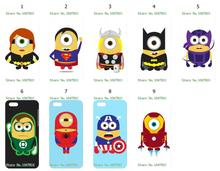 Mobile Phone Case Wholesale 9pcs/lot superhero Protective White Hard Case Cover For Iphone 5C Free Shipping