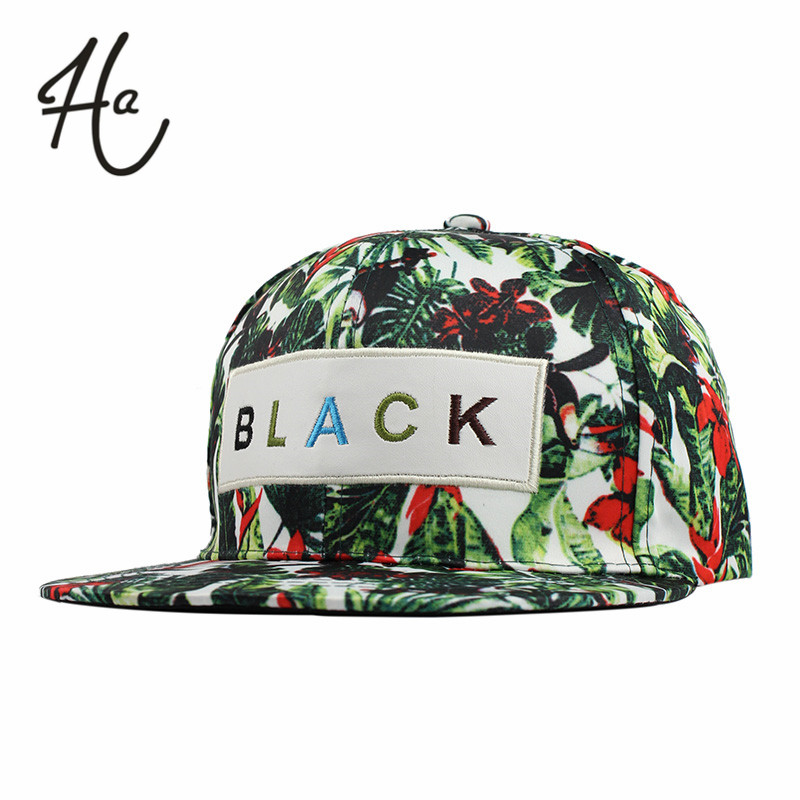 New Style Flower Label Snapback Cap Hip Hop Cap Floral Casquette Snap Back Fashion Baseball Cap Gorras Men Sport Snapback Hat(China (Mainland))