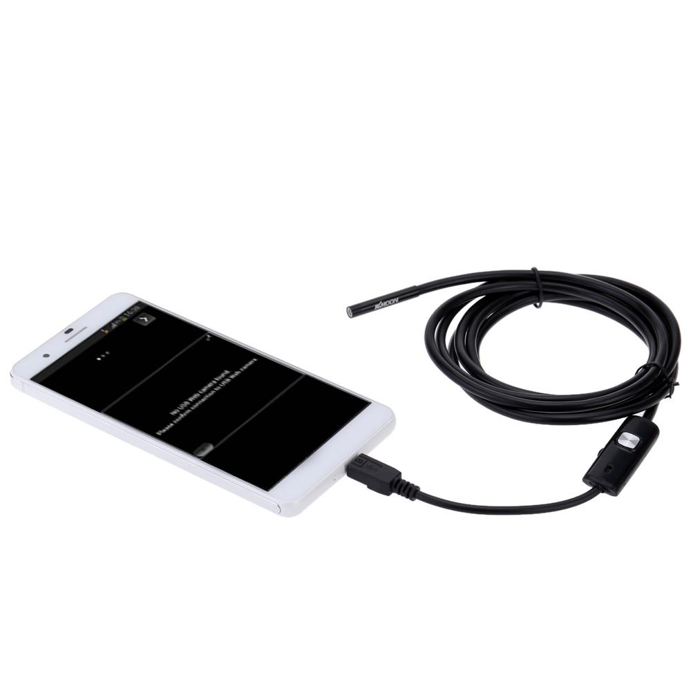 Android OTG USB Endoscope 7mm COMS Mini Endoscope Camera 3.5M Inspection Camera Borescope With 6 LEDs Adjustable Brightness(China (Mainland))