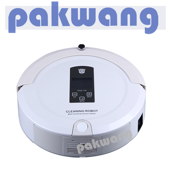Robot Vacuum Cleaner Auto Rechargeable Station,Virtual Wall,LCD Touch Screen,robot cleaner auto(China (Mainland))