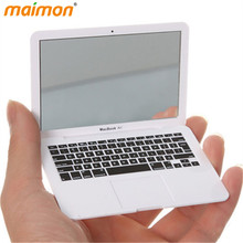 1 Piece Novelty Macbook Air Makeup Mirror Apple Notebook Mini Portable Pocket Mirror Cosmetic Mirrors(China (Mainland))