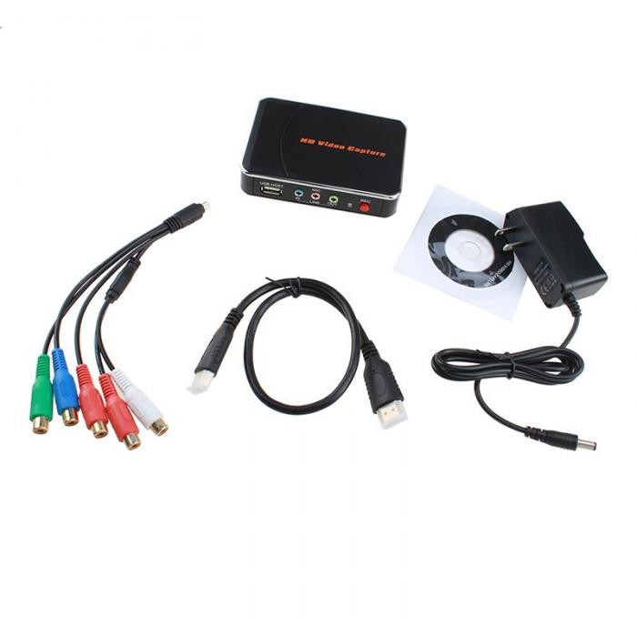 HDMI/YPBPR Recorder HD Game Capture Recorder Video Capture Device for WiiU/Xbox 360/Xbox One/PS4/PS4 QJY99