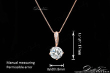 OL AAA CZ Diamond Chain Necklaces Pendants 18K Rose Gold Plated Fashion Brand Crystal Party Wedding