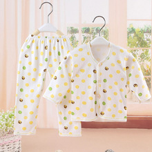 Sale Price! New Baby Steel Cotton Soft Comfort Underwear 0-3 Month Newborn Lovely Printing Cartoon Sleep Sets Infant Pajamas(China (Mainland))