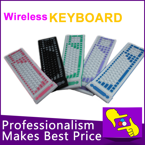 107 keys folding Waterproof wireless Flexible Soft Silicone bluetooth 2.4G Keyboard for tablet PC(China (Mainland))