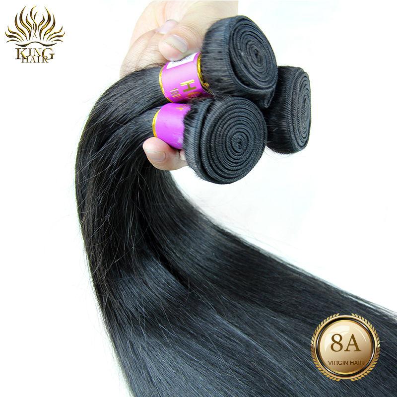 Virgin Brazilian hair Straight hair 6A grade natural color human hair 3 or 4 pcs/lot mix length 6-30inch  Free Shipping<br><br>Aliexpress