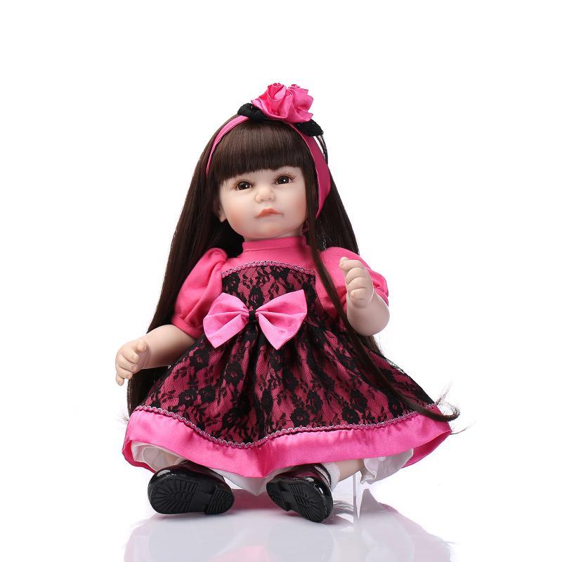 New 52CM  lifelike reborn baby doll wholesale girl dolls Christmas gift for children baby bonecas