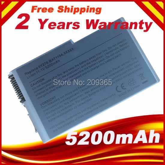 Laptop Battery FOR Dell Inspiron 510m 600m Latitude D500 D505 D510 D520 D530 D600 D610 Precision M20 Mobile Workstation M20(China (Mainland))