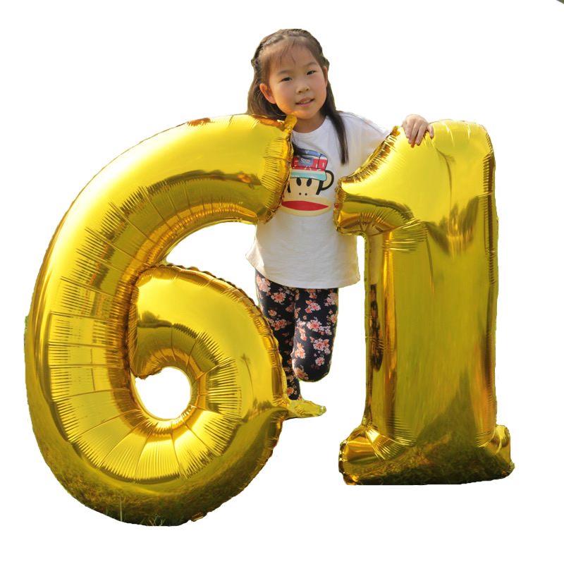 1PC Large 40 inch Gold Number Balloon Big Aluminum Foil Giant Balloons Birthday Wedding Party Ballon Decora Celebration Supplies(China (Mainland))