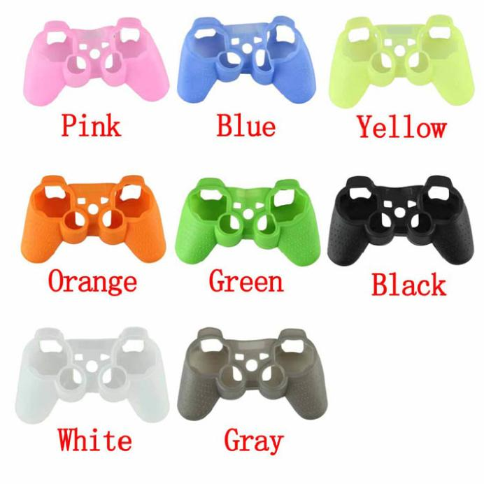 520 Modern NEW Protective Silicone Gel Skin Case Cover for Playstation 3 PS3 Controller,Free shipping(China (Mainland))