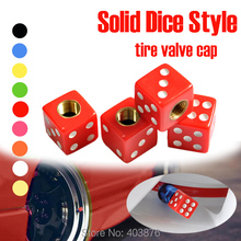 Car styling Christmas promotion Solid  Red  Dice style Car Valve Cap , tire valve cap , EMS fast shipping(China (Mainland))